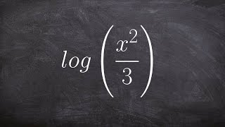 How to expand a log expression using the rules of logarithms