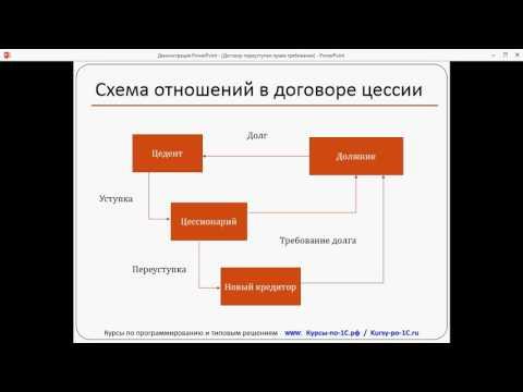 1С Бухгалтерия Учет расчетов по договору уступки права требования