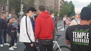 UŽIVO: Beograd raskrsnica Takovske i Bulevara -  Narod blokirao centar grada