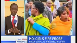 Student arraigned in court from the Moi Girls fire charged with arson