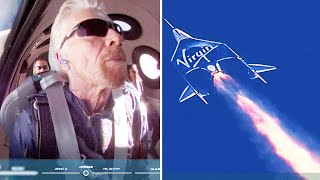 video: Virgin Galactic launch: Richard Branson becomes first billionaire in space