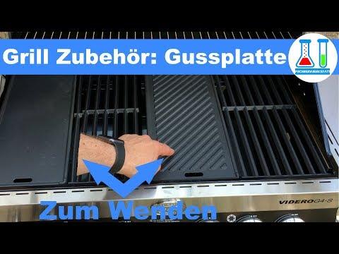 Grill Zubehör: Rösle Wende - Guss Grillplatte Unboxing und Vorstellung im Videro G4-S - deutsch