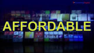 News Words: Affordable
