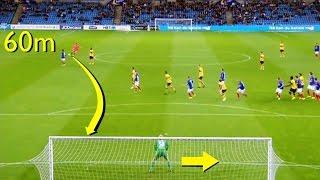 Los Tiros Libres Más Largos Del Fútbol ● Long Range  Kick Goals
