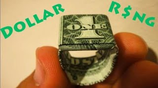 How To Make An Origami Dollar Ring (Moneygami) - Robs World