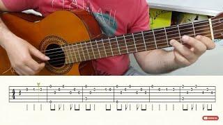 AH İSTANBUL- FİNGERSTLE-GİTAR SOLO-NOTA-TAB- (GİTAR DERSLERİ)- TUTORİAL