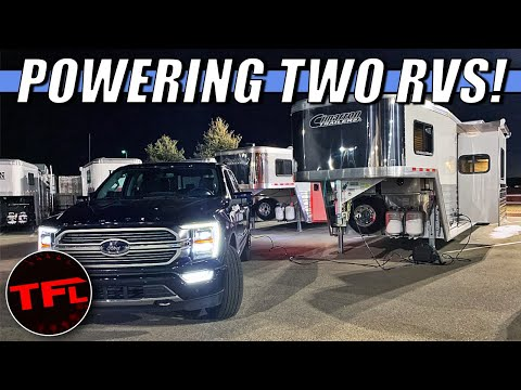 Forget The Generators: The 2021 Ford F-150 Hybrid Can Power Your RV AND Your Neighbor's RV!