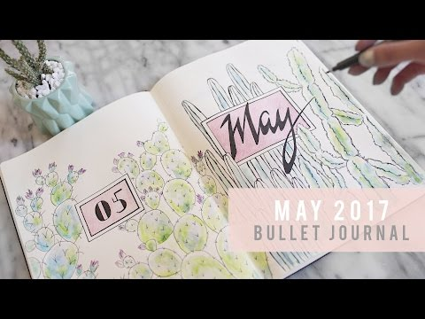 PLAN WITH ME - May 2017 | Bullet Journal  | ANN LE