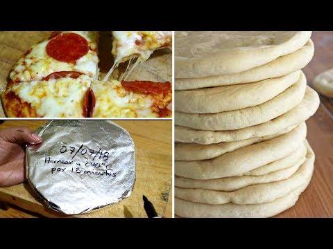 PIZZA 100% CASERA PARA CONGELAR Y HORNEAR EN CUALQUIER MOMENTO