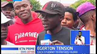 Egerton Tension :Student opposes Ksh16,000 penalty over damages