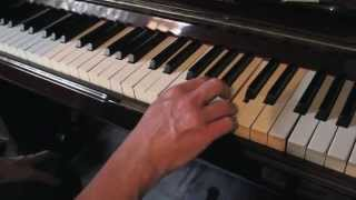 "Professor Longhair ""Tipitina"" main riff slowed down blues piano tutorial"