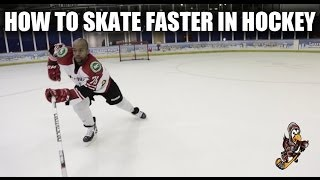 How To Skate Faster In Hockey Video Tutorial - Forward Stride Tips