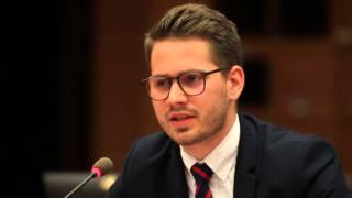 National President of Young Liberals of Canada Justin Kaiser at 2016 Geneva Summit