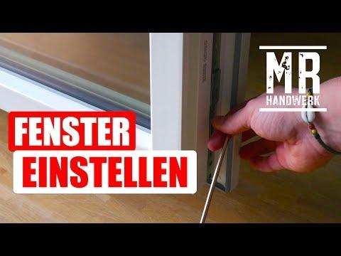 Fenster und Balkontür RICHTIG einstellen !