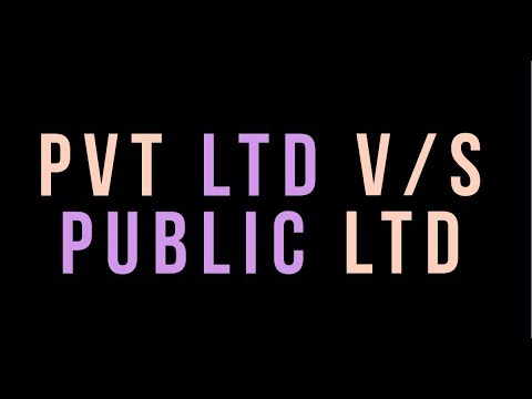 Difference between Private Limited Company and Public Limited Company-Class11/12,HSC
