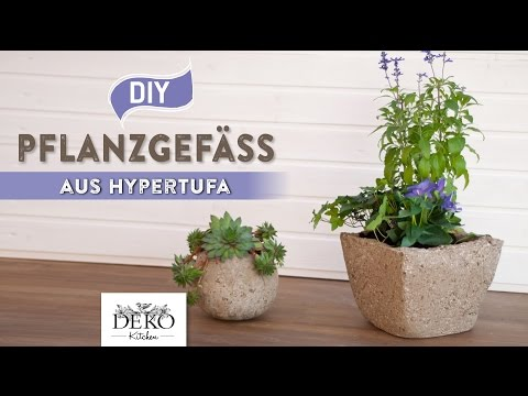 DIY: Pflanzgefäß aus Hypertufa (Torfbeton) selber machen [How to] Deko Kitchen