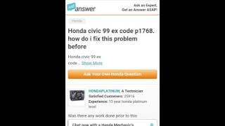 P1768 99 civic .what? Honda tech...
