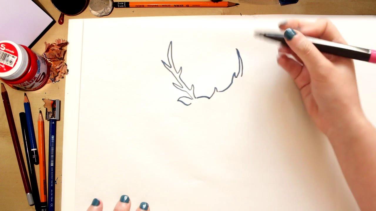 Como dibujar un Ciervo - dibujos para niños