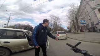 ДТП велосипедист - Honda, Новосибирск