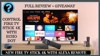 Amazon Fire TV Stick 4K INDIA Review + Giveaway  | CONTROL FIRE TV STICK 4K BY ECHO DOT |
