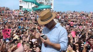 NKOTB Cruise 2012 Sail Away Party 'Live It Up' Joey Mcintyre Donnie Wahlberg