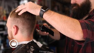 Barber Works Magic on a High Hairline & Patchy Beard | The Dapper Den Barbershop