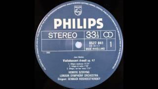 Sibelius, Violin Concerto, Henryk Szeryng and Gennardi Roshdestvensky Dirigent
