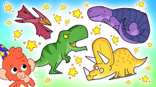 Club Baboo   T-Rex, Triceratops, Pterodactylus & Nodosaurus!   Dinosaur ABC and more with Baboo