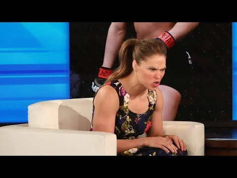 Ronda Rousey Shows Ellen How to Mean Mug