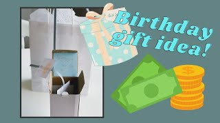Idea for a birthday giftbox for someone you are giving money to