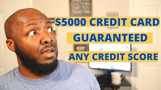 Build Up Bad Credit Credit Card Options $5000 Guaranteed Approval Any Credit Score