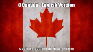 O Canada - English Version of National Anthem in Nightcore Style With Lyrics