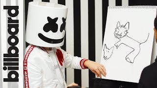 Marshmello & Moe Shalizi Play Pictionary! | Billboard