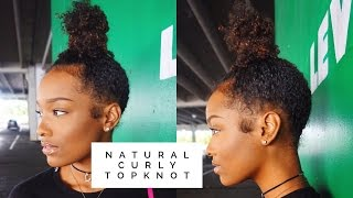 HOW TO | Natural Curly Topknot | FabulousBre