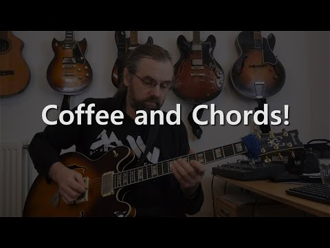 Coffee And Chords -  Jazz Guitar solo on a Cm Blues