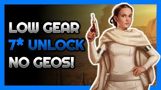 Low Gear to Unlock 7* Padmé Tier 7 - No Geonosians!