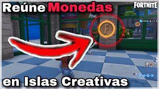 Gambar cover Reúne Monedas en Islas Creativas destacadas   Desafíos Horas Extra   Fortnite Battle Royale