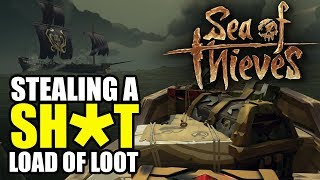 Sinking Ships & Stealing Their DOUBLE Stronghold Loot - Sea of Thieves