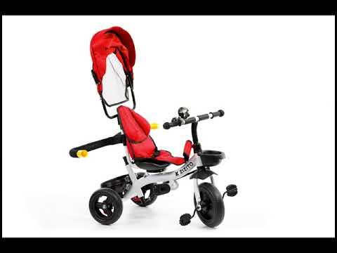 Триколка KOTY с родителски контрол, червена ZIZITO  2