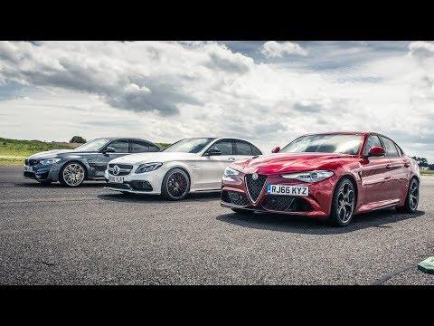 Drag Race! BMW M2 Vs Merc C63 Vs Alfa Giulia | Top Gear
