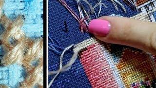 Смотреть онлайн Гобеленовый стежок в вышивке крестиком