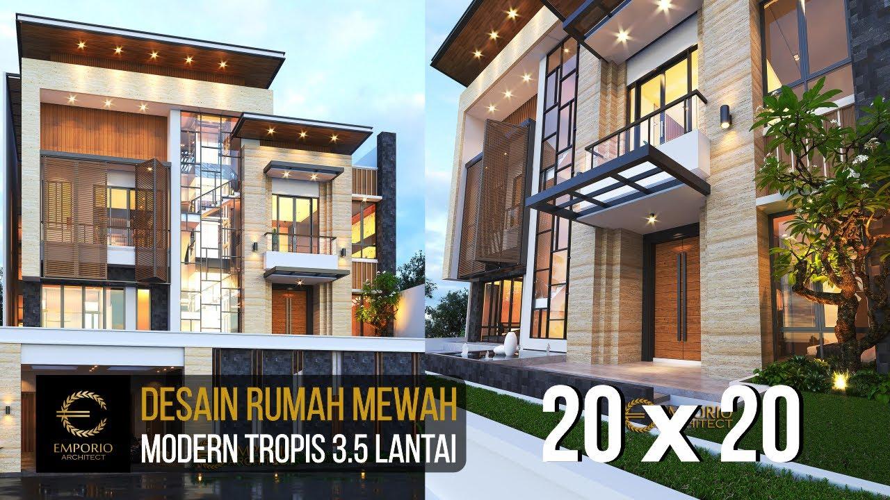 Video 3D Desain Rumah Modern 3.5 Lantai Ibu Cannida - Jakarta Barat