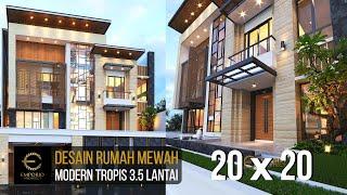 Video Desain Rumah Modern 3.5 Lantai Ibu Cannida di  Jakarta Barat