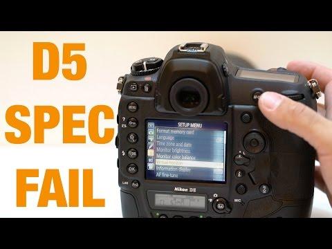 Nikon D5 - Surprise Spec Fail (Potential Deal Breaker?)
