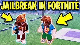 Playing ROBLOX JAILBREAK in FORTNITE! (Jailbreak Prison)   Roblox Jailbreak