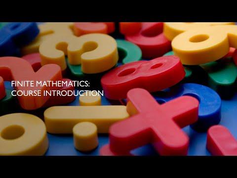 Finite Mathematics Summer 2020: Course Introduction
