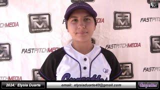 2024 Elysia Duarte Athletic SS, Third Base & Outfielder Softball Skills Video - Ca Grapettes McNair