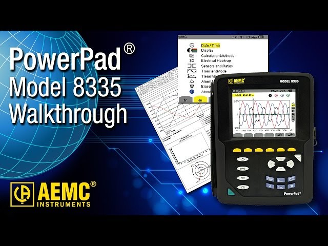 AEMC® - Model 8335 - 3-Phase Power Quality Analyzer - Walkthrough
