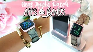 BEST APPLE WATCH APPS AND BANDS! MOST PRODUCTIVE APPS FOR YOUR WATCH.
