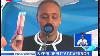 Caroline Wanjiru becomes the first person to be nominated and approved by the county assembly